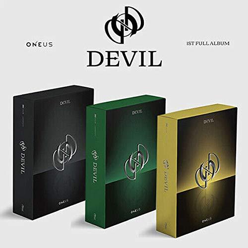 ONEUS [DEVIL] 1st Full Album [ BLACK + GREEN + YELLOW ] 3Ver SET. 3CD+5p FOLDED POSTER+3 Photo Book+3Lyrics+9 Card K POP SEALED+TRACKING CODE