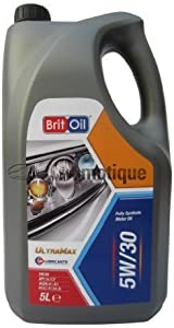 CITROEN DS3  10   BRITOIL FULLY SYNTHETIC ENGINE OIL 5W30