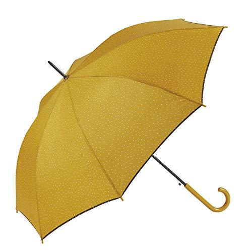 Paraguas grande amarillo de mujer automático