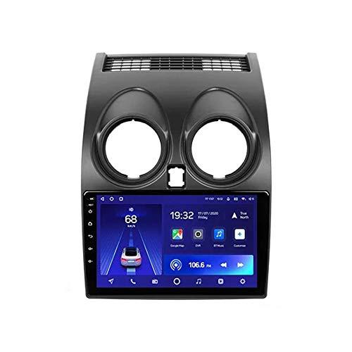 JALAL Car Stereo MP5 Player 9 '' HD Touchscreen Bluetooth Car Radio Compatible con cámara de visión Trasera/USB/navegación GPS/AUX/FM/1080P Video, para Nissan Qashqai 1 J10 2006-2013