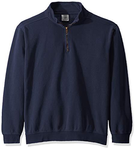 Comfort Colors Men's Adult 1/4 Zip Sweatshirt, Style 1580, True Navy, Large