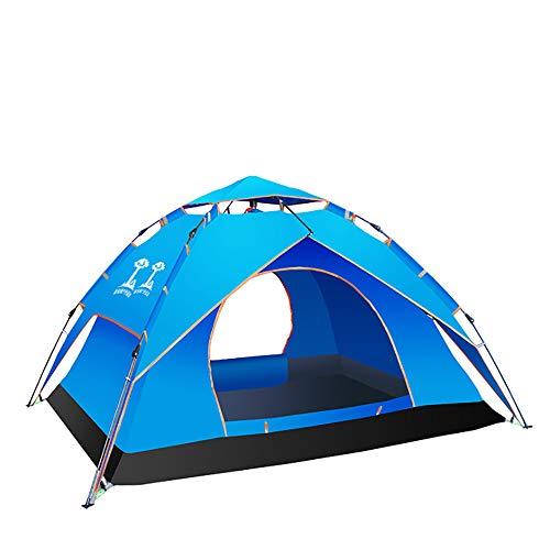 WeeLion Les tentes escamotables sont utilisées à Trois Fins: 3 à 4 Personnes utilisent des tentes Anti-Vent/étanches/Anti-UV pour la Plage, l'extérieur, Les Voyages, Le Camping, la Chasse, etc, Bleu