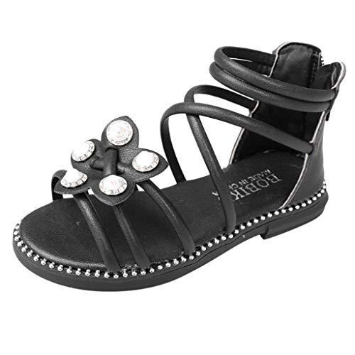 BURFLY Baby große Kinder Blumen Perlen römische Schuhe hoch, um Strandschuhe zu helfen Reißverschluss Prinzessin Schuhe Sandalen