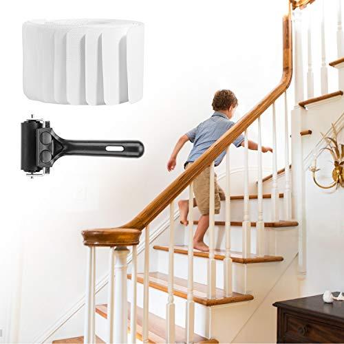 H HOMEWINS 15 Stück(10 * 60cm) Anti Rutsch Treppe Anti-Rutsch Stuffen,Antirutsch Treppen Rutsche Selbstklebend,Holz Stufenmatten Transparent Streifen,Treppenstufen Rutschschutz