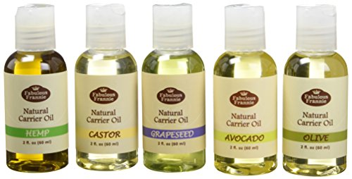 Carrier Oil 5 Pack #2 - All Natural Ingredients and 100% Pure Essential Oils - This Kit Includes Avocado, Castor, Grapeseed, Hemp and Olive Carrier Oils