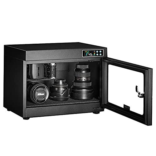 Cámara 28L Deshumidificación automática Gabinete seco Diseño silencioso y Que Ahorra energía Diseño protección contra Incendios para Lentes de cámara y Almacenamiento de Equipos electrónicos