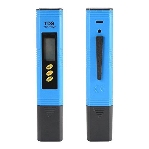 ZXX Wassertester, Digitales TDS Wasserqualitätstest Messgerät mit LCD-Display, Ti-Sonde PPM Temperatur Tester/Messer für Filter Trinkwasser Pools Aquarium Schwimmbad Spa