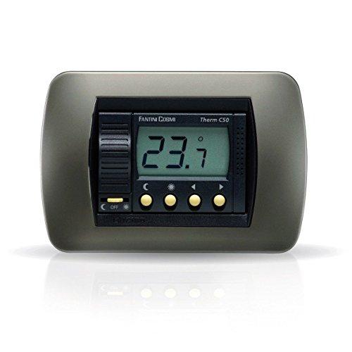Termostato Ambiente C50 Antracite Da Incasso A Batterie Fantini Cosmi