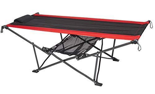 Mac Sports H900S-100 Topnotch Heavy Duty Multi-Use Outdoor Camping Portable Folding Hammock (Red/Black)