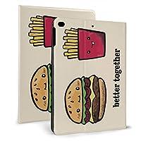 Ipad 2018 2017 ケース アイパッド 2017 9.7 Ipad Air2 Ipad Air ケース 手帳型保護カバー ハンバーガーと 全面保護 耐衝撃 傷つけ防止 二つ折 超軽量 オートスリープ 高級pu レザーケース