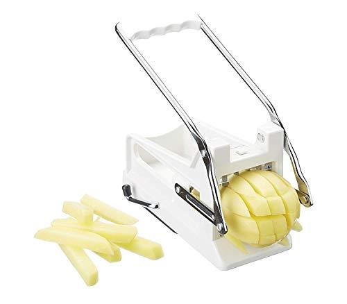 Kitchen Craft KCBB882 - Cortador de patatas fritas con hoja de acero inoxidable, Blanco