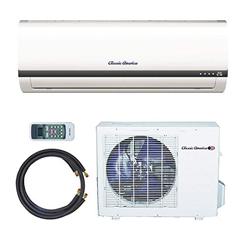 Classic America Ductless Wall Mount Mini Split Inverter Air Conditioner with Heat Pump, 24,000 BTU...