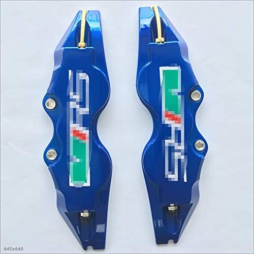 Mmhot Scheibenbremssattel-Abdeckungen, Bremssattel-Schutz for Skoda VRS Logo Octavia KAROQ KODIAQ SUPERB Usw. ABS Plastik Auto Stil (Color Name : Blue, Size : 2 Size L and 2 SizeM)