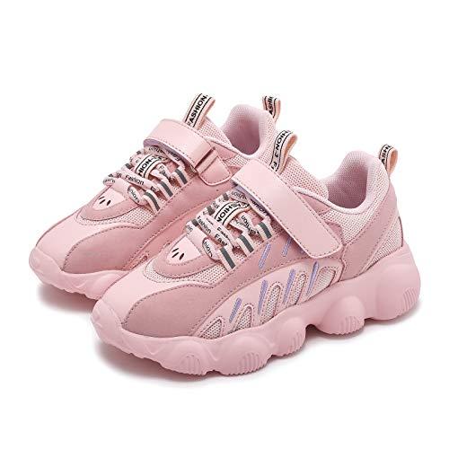 Zapatillas de deporte para niños y niñas, color negro, ligeras, cómodas., color Rosa, talla 31 EU