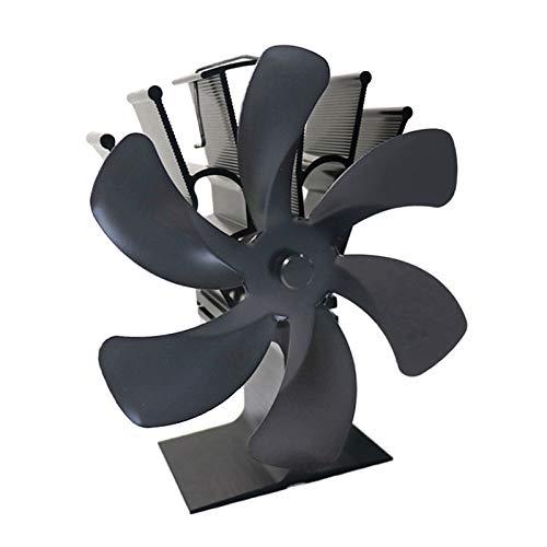 Baoblaze 6 aspas de Estufa de leña Ventilador de Chimenea Motores silenciosos Que circula con Calor/Aire Caliente Ventilador de Estufa ecológica para - Gris