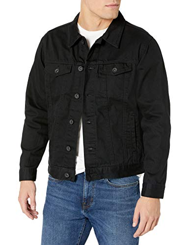 Southpole Men's Premium Fashion Denim Jacket, Jet Black Signature, Large