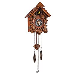 Fox Valley Traders Wooden Cuckoo Clock, One Size Fits All, Brown