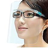 PETHREE Visiere_Protettiva Trasparente per Adulti e Bambini, Face_Shield_Visor (Con 12 visiere e 6 montature per occhiali)