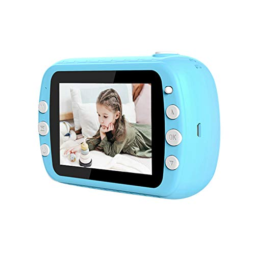 Sofortbildkamera Kinder Kamera 3,5 Zoll Digital Kinderkamera, HD Kamera/Video Funktion mit 3 Druckpapier, 1 Lanyard 1 USB-Kabel, Kameratasche Geschenk für Kinder Print Kamera (Blau)