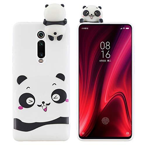 LUSHENG Funda Pintada para Xiaomi Redmi K20/K20 Pro (Mi 9T), a Prueba de Choques Anti-Caída TPU de Silicona Suave Carcasa Compatible con Redmi K20/K20 Pro (Mi 9T) (6.39') - Blanco