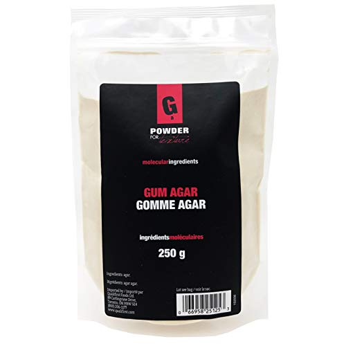 PowderForTexture Premium Agar Agar Powder for Baking and Cooking, 250g (8.8oz)   Vegan/Vegetarian Substitute for Gelatin, Emulsifier, Molecular Gastronomy