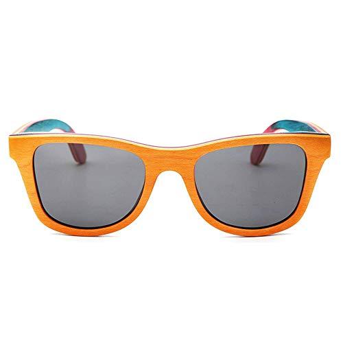 Kaper Go Sonnenbrillen UV400 Orange Skateboard Holz Sonnenbrille Objektiv Federscharnier Polarisierte Augenschutz Männlich Und Weiblich Universal
