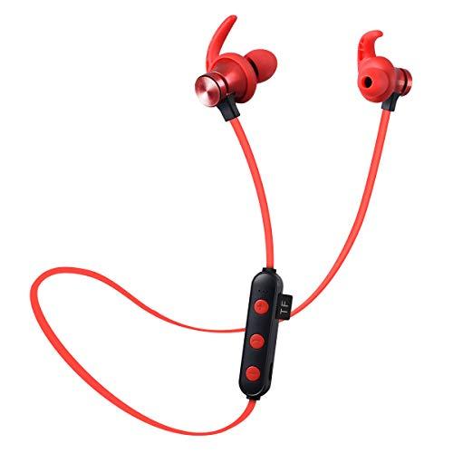 Youyababay blue-tooth koptelefoon, blue-tooth4.2 draadloze aptX stereo magnetische in-ear oordopjes, veilige pasvorm voor sport, sportschool, reizen(IPX5waterdicht, ingebouwde ruisonderdrukkende mic)