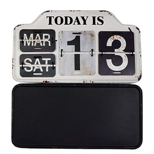 【USA アメリカン デザイン】カレンダー 日めくり カフェ ガレージ インダストリアル ビンテージ バイカー インテリア 看板 WH ;AVCA-003