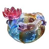 LHMYGHFDP Cristal Antiguo Lotus Cornucopia Pecera Decoración de Feng Shui Rica Sala de Estar Decoración de Entrada de casa Regalo de Apertura de inauguración Decoración de Escritorio de Oficina,B,L
