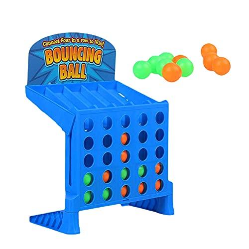 Juego de mesa 4 en una fi la Juego de mesa | Bounce Balls Shots Game Gaming Connect 4 Shots Link Juego de pelota Bouncing Linking Shots Juguetes educativos multijugador para niños
