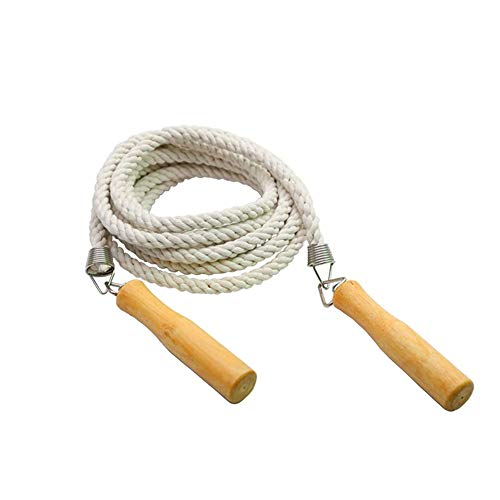 SYXX Springseil, Baumwolle Seil, Kinder- und Holzgriff Lange Jump Rope erwachsen, Gruppe Seilspringen, Multiplayer Jump Rope, for Fun Games, Geschicklichkeitsspiele, Schule, Gesellschaft