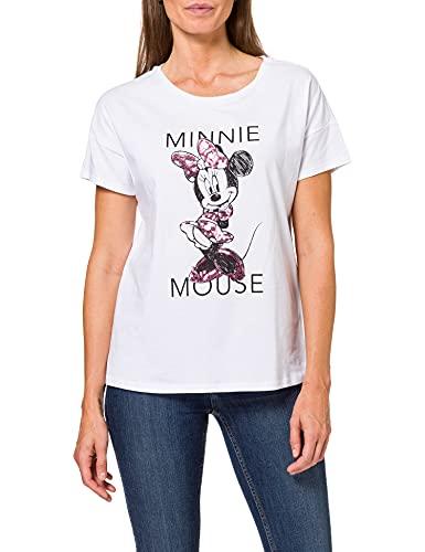 Springfield Camiseta Licencia Minnie, Blanco, XS para Mujer