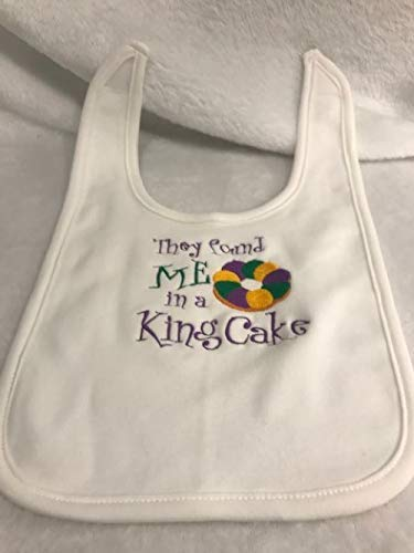 Mardi Gras Bib embroidered