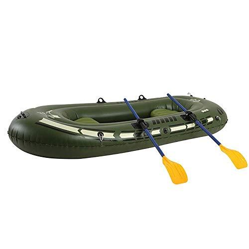 GUOE-YKGM Kayak Schlauchboot Faltkajak Outdoor Beiboot Komfortable Kajak Freizeit Faltboot 2-3 Personen Schlauchboot Marine Sport Angeln Abenteuer Dicke PVC Kunststoff 240 * 125 * 55 cm Grün