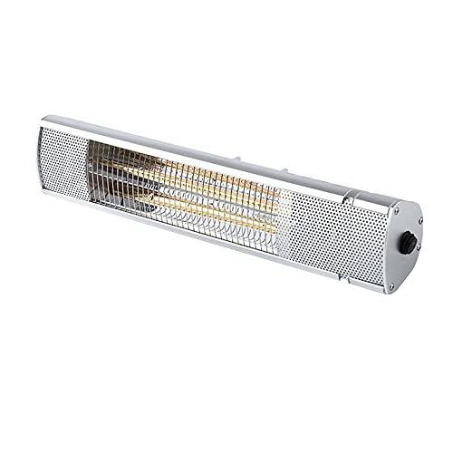 LSHAN Calentador eléctrico de Patio, 1500W Montado en la Pared Estufa por Infrarrojos, IP65 Impermeable, Calentador de Exterior por Calentamiento rápido Jardín Restaurante Garaje Patio Interior