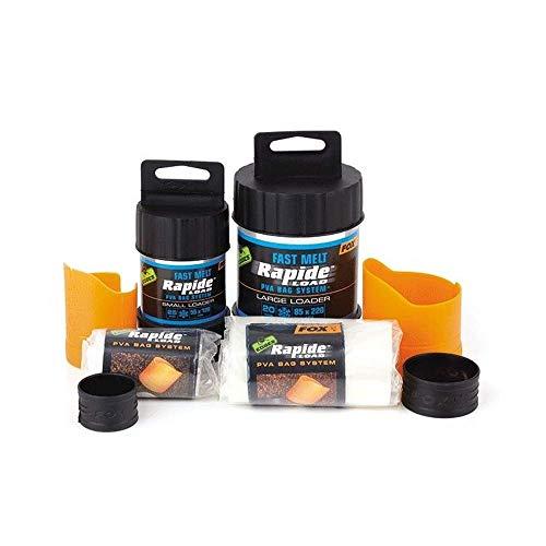 FOX Edges Rapide System Fast melt - Befüller + PVA Beutel zum Karpfenangeln, Wasserlösliche Taschen zum Anfüttern von Karpfen, Größe/Packungsinhalt:60x130mm - 25 Stück