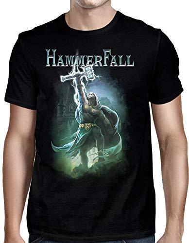 DressCode HammerFall Herren T-Shirt Hammer High Schwarz - Schwarz - Mittel