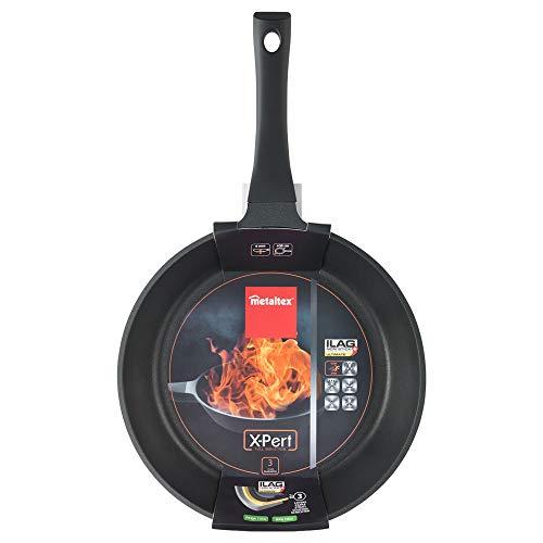 Metaltex XPERT - Sartén Aluminio Fundido 30 cm, antiadherente 3 capas, Full Induction válido para todo tipo de cocinas