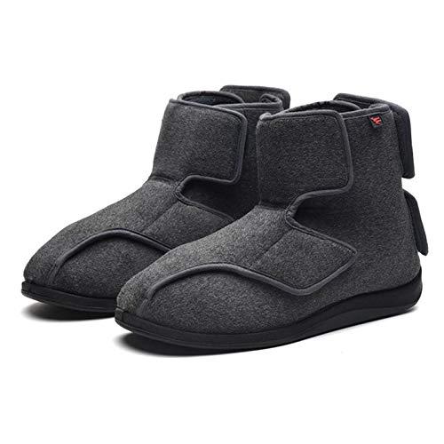 SHANGN Zapatos para Diabéticos para Hombres Zapatos Extra Anchos para Personas Mayores...