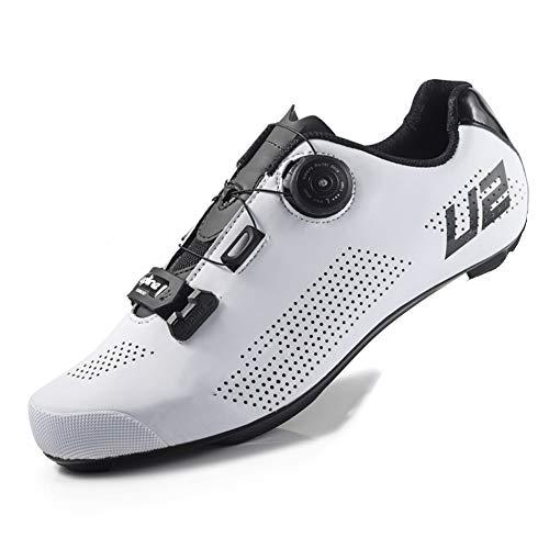 XUJINGJIE Zapatillas De Ciclismo Carretera Unisex Adulto Ligeras Zapatillas Bicicleta,C,44(UK10)