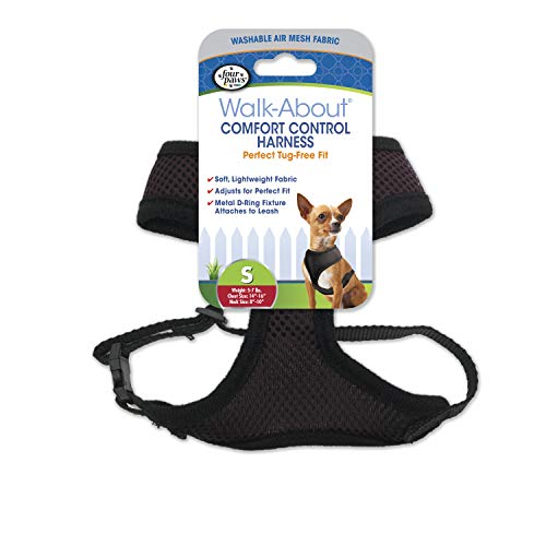 Four Paws Comfort Control Dog Harness Black Small