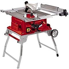 Scie circulaire de table à l'unisson TE-CC 250 UF (max. 2000 W, Ø250 x ø30 mm lame de scie, hauteur de coupe 0-78 mm, softstart, pliable, coup parallèle et coupe transversale)