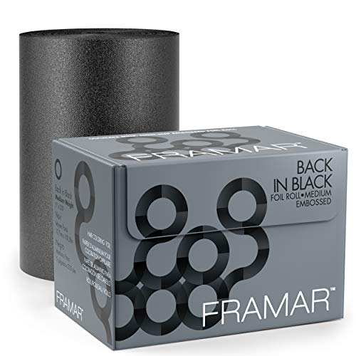 FRAMAR Back In Black Embossed Foil Roll Medium 100,6mt