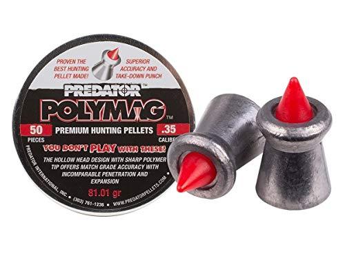Predator Polymag 1014-50 Air Gun Pellets .35 Cal, 81.01 Grains, 50ct.35 Cal, 81.01G, 50ct