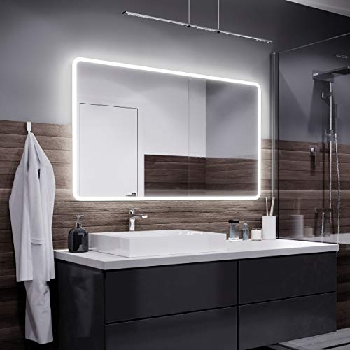 Alasta Osaka Espejo - 120x80cm Espejo de baño con iluminación LED - Bianco Firo LED