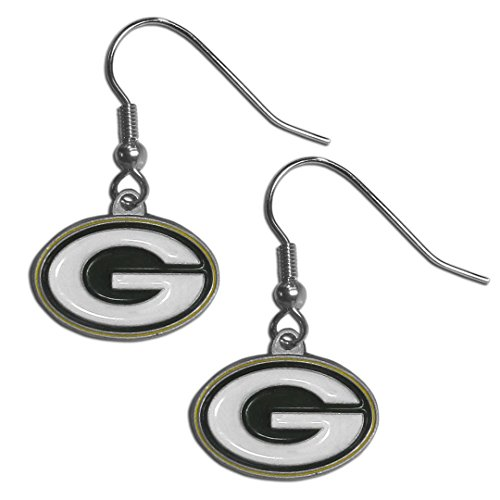 NFL Siskiyou Sports Womens Green Bay Packers Dangle Earrings One Size Team Color