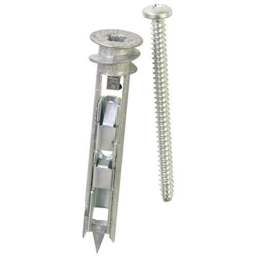 Unvert USA Zinc E-z Ancor Toggle Kit, 25 Zinc Self Drilling Toggle Anchors with 25 Phillip Screws #8 x 2-1/8#EKT025