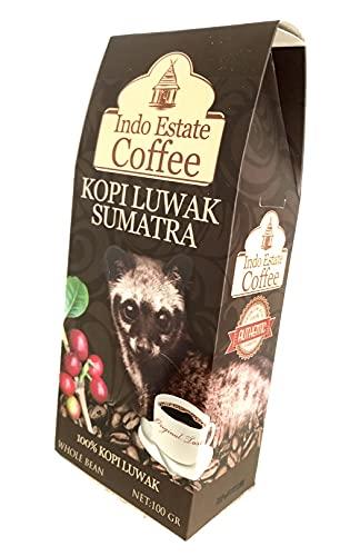 (豆のまま/100g) 高級コーヒー豆 コピルアック KOPI LUWAK SUMATRA コピ・ルアク スマトラ [Indo Estate Coffe]