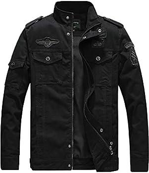 YXP Men's Military Casual Lightweight Cotton Windbreaker Field Jacket
