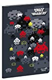 Quo Vadis Space Invaders Carnet 21 - Cinta de costura (15 x 21 cm), diseño de Aliens